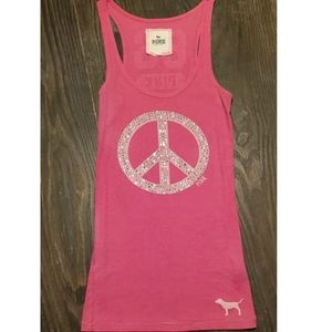 Pink Victorias Secret peace bling tank size small